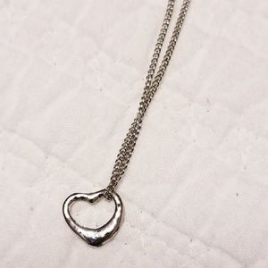 Iconic Floating Open Heart Necklace Pendant